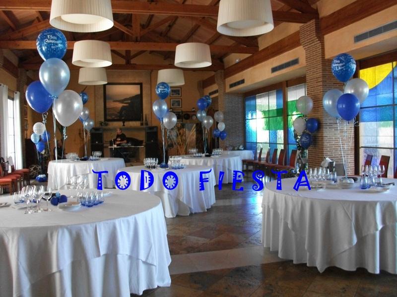Decoraci n con globos de todo fiesta decoraciones para for Decoracion de pared para 50 anos