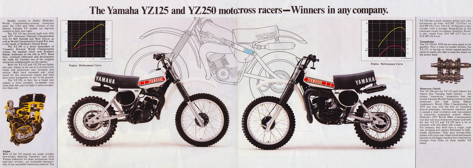 racing caf vintage brochures yamaha yz 125 250 1978 wiring diagram also yz 125 clutch on 89 in addition suzuki gsx r 750 [ 1600 x 568 Pixel ]