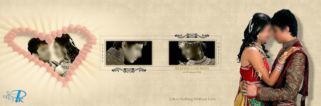 wedding album design psd