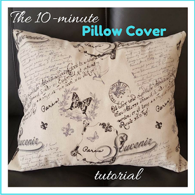 The 10-minute pillow cover tutorial