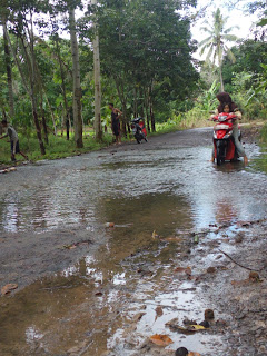 Sungai Ogan Meluap, Jalan Kecamatan Rantau Panjang Terendam