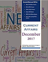 Decembe 2017 Monthly Current Affairs PDF - December 2017 Hindi Version for Bank PO Clerk SSC IBPS Delhi Police