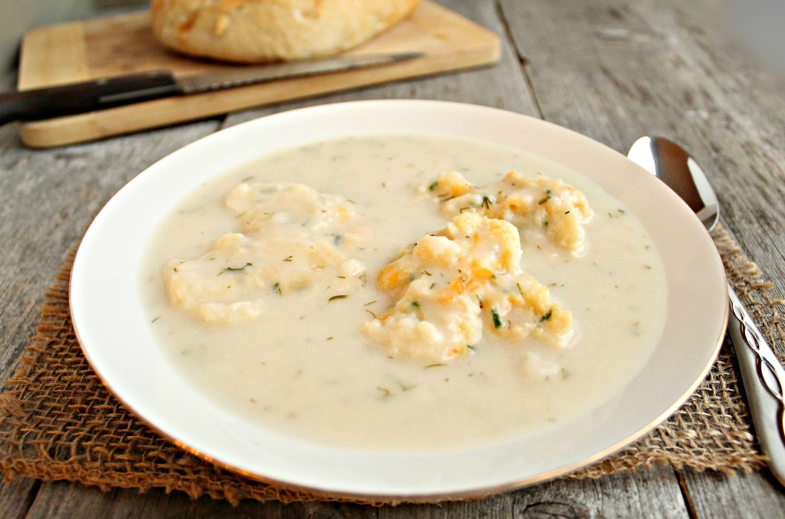 Hungry Couple Cream of Chicken Soup with Cheddar and Herb