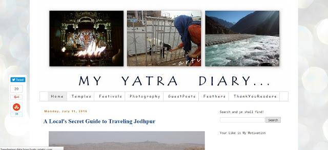My yatra diary