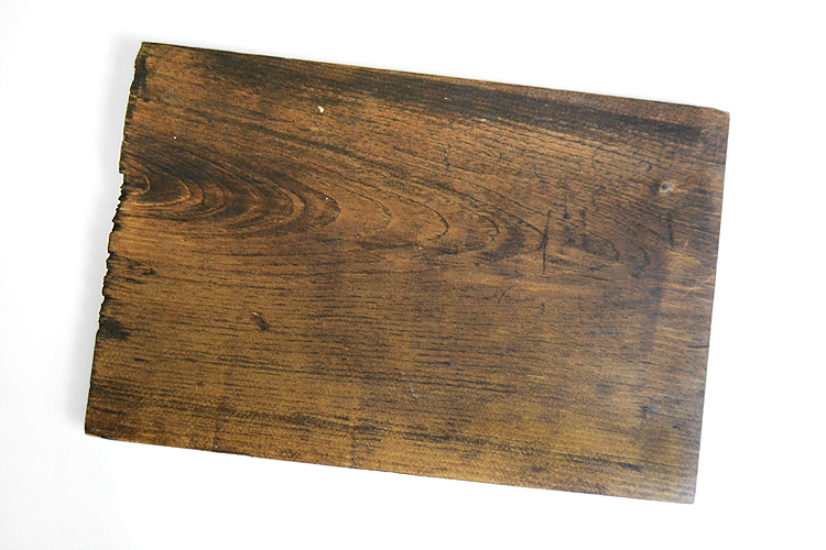 Cut paint and stain your wood plank