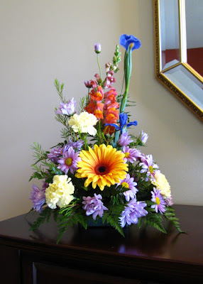 floral arrangement gerbera daisy monica curry