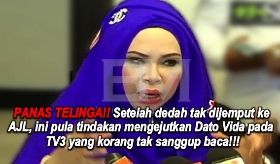 PANAS TELINGA!! Setelah dedah tak dijemput ke AJL, ini pula tindakan mengejutkan Dato Vida pada TV3 yang korang tak sanggup baca!!!