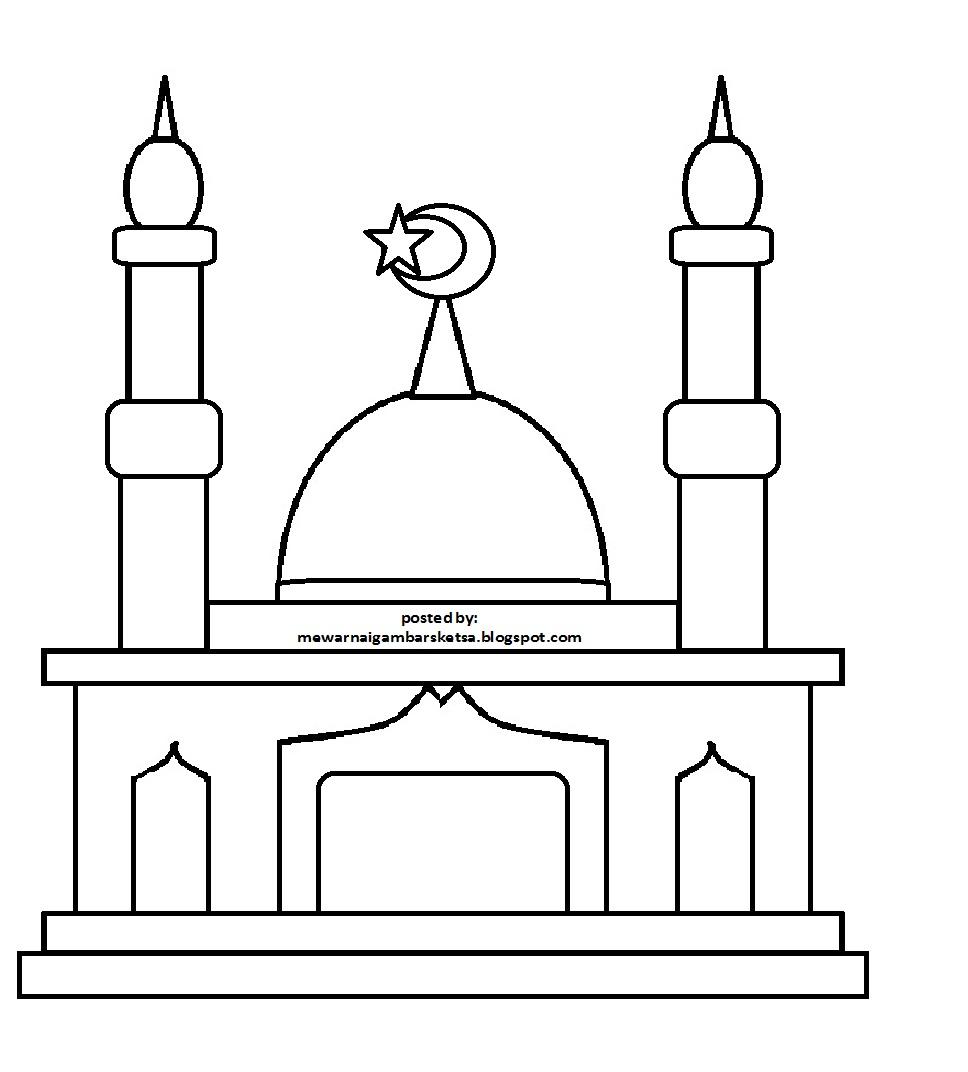 Image Gallery of Gambar Tempat Ibadah Untuk Mewarnai