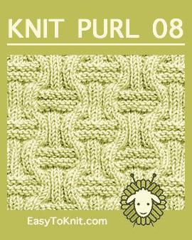 #Knit Double Basketweave stitch, Easy Knit Purl Pattern #easytoknit
