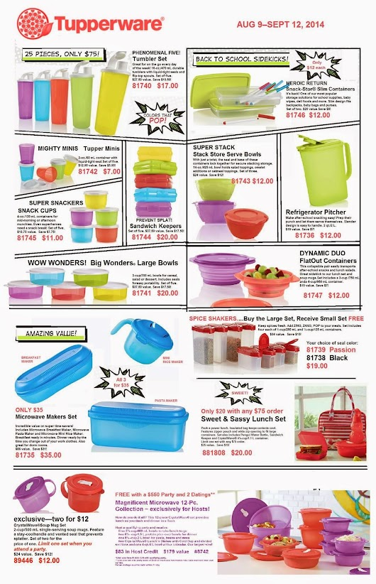 Tupperware has LUNCH Sets!! Stock Up Now!