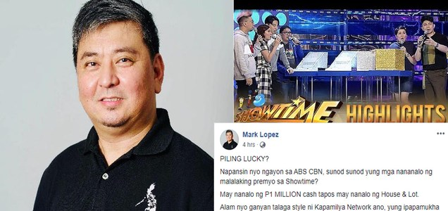 Radio host exposes Kapamilya Network's sudden generosity in Showtime, warns public not to fall for this drama - nothing but to win public sympathy   PTN