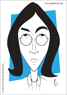 John Lennon Caricature by Ian Davy Brown