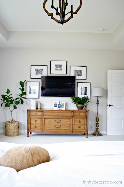 Master bedroom with TV wall