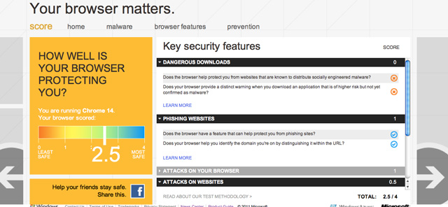 Your Browser Matters - Microsoft Launches Tool For Checking Browser Security