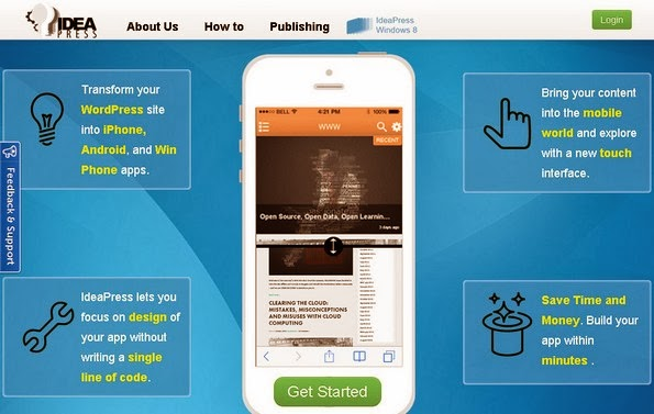 IdeaPress to convert WordPress site into Android app