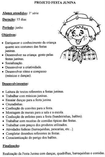 Projeto Festa Junina E Atividades Cantinho Do Educador Infantil