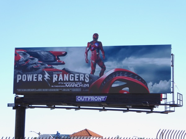 Power Rangers Red Ranger billboard
