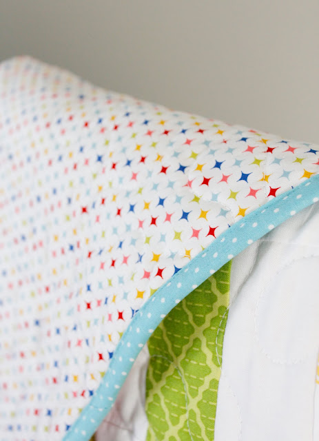 Bright Baby Quilt made by A Bright Corner
