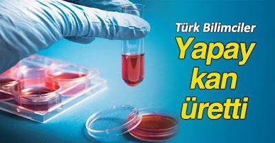 türkiye'de ilk yapay kan üretimi, klorofil ve hemoglobin hücre benzerliği