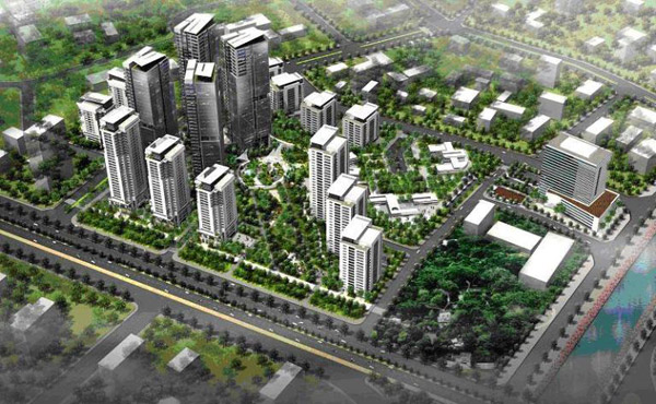 Phối cảnhKhu đô thị Hồng Hà Eco City