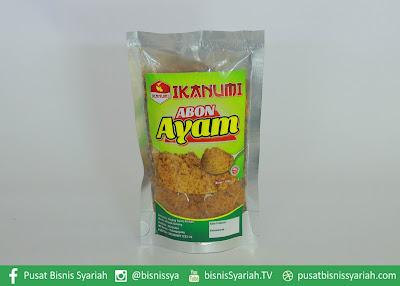 www.pusatbisnissyariah.com ABON AYAM IKANUMI produk indonesia produk ukm indonesia produk halal indonesia pusat bisnis syariah