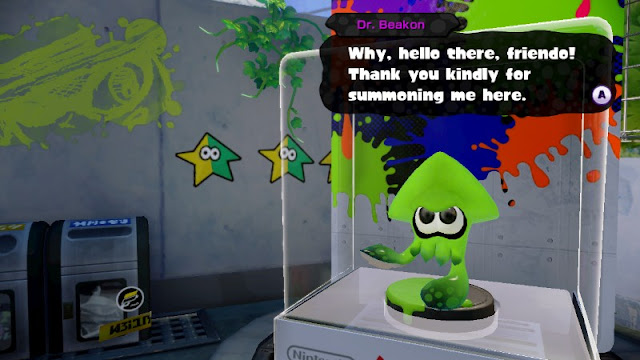 Dr. Beakon Splatoon amiibo dialogue hello there friendo