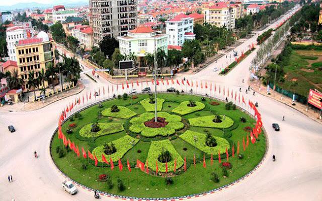 Vòng tròn trung tâm thành phố Bắc Ninh