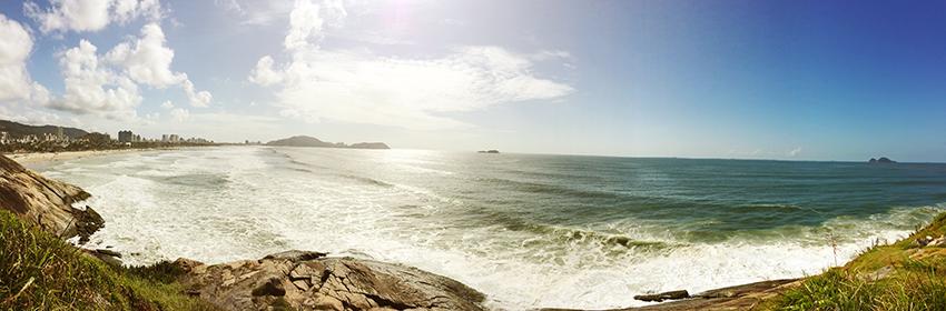Panorâmica da Praia da Enseada