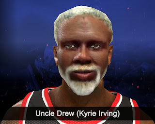 NBA 2K14 Uncle Drew (Kyrie Irving) Cyberface Mod