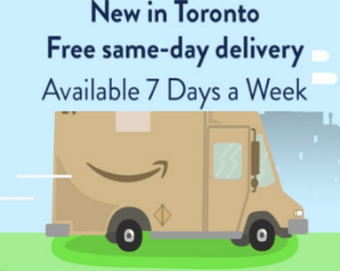 Amazon.ca Free Same-Day Delivery Prime Members