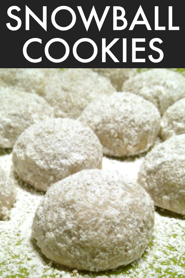 Snowball Cookies | A tender shortbread cookie recipe with pecans and powdered sugar (also called Mexican Wedding Cookies and Russian Tea Cakes) perfect for holiday baking!