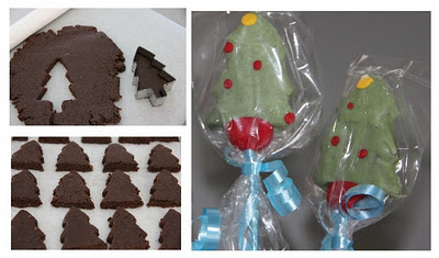Make Christmas tree pops