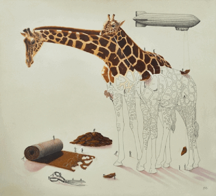 07-Giraffe-Ricardo-Solis-Surreal-Illustrations-of-Animals-in-Mid-Construction-www-designstack-co