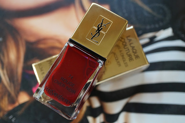 Yves Saint Laurent La Laque Couture '74 Rouge Over Noir'