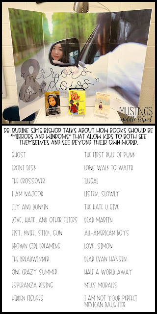February Book Display - Mirrors and Windows