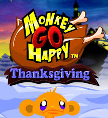 See if you can cheer this chipanzee on #ThanksgivingDay in #MonkeyGoHappy #Thanksgiving!