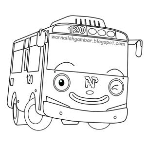 Mewarnai Tayo The Little Bus Mewarnai Gambar