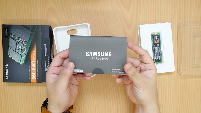 samsung evo 860 m.2 unboxing