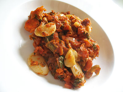gigante beans baked in tomato sauce