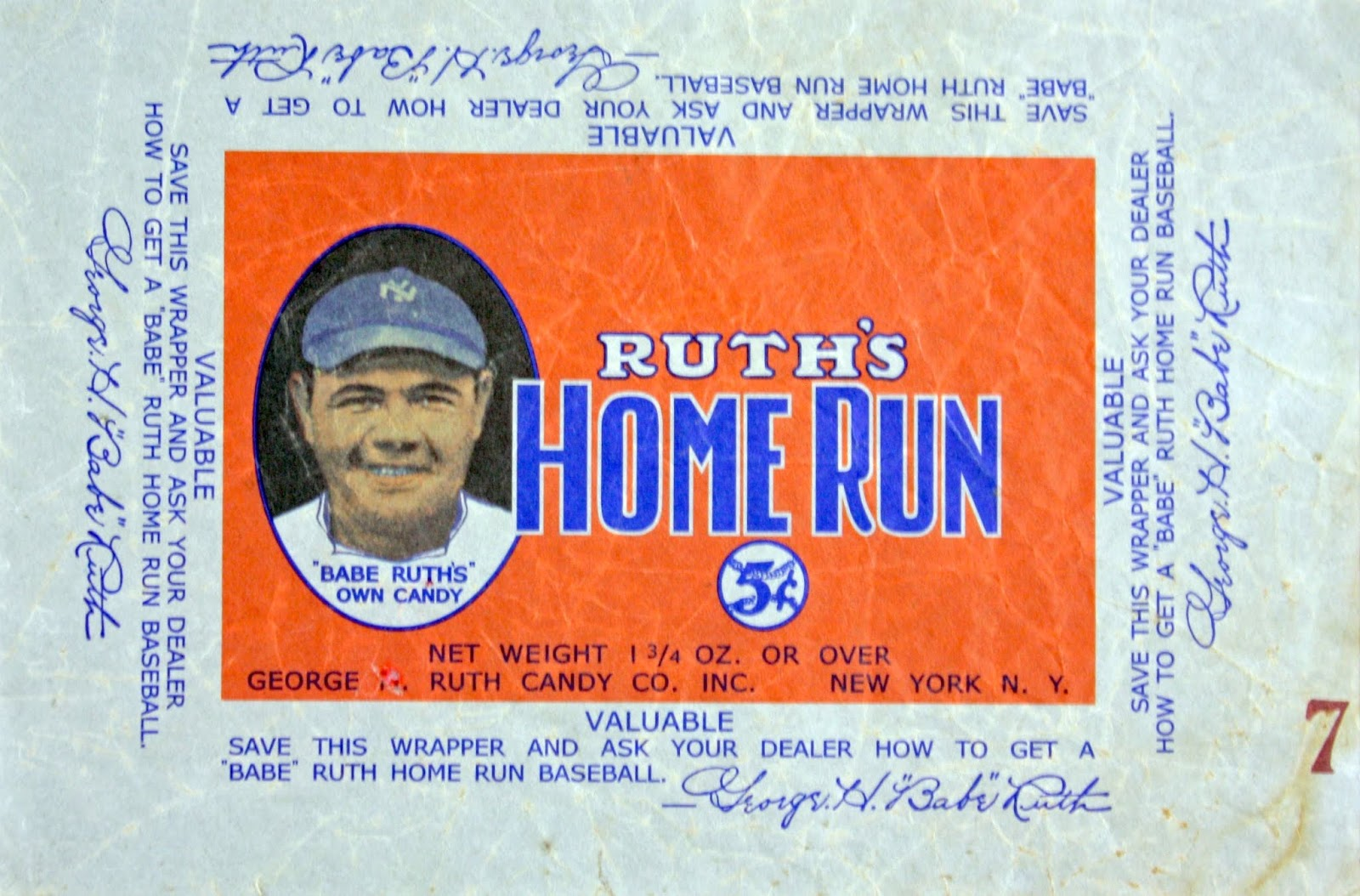 Babe Ruth Baseball Number
