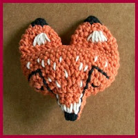 Patrón broche zorro crochet