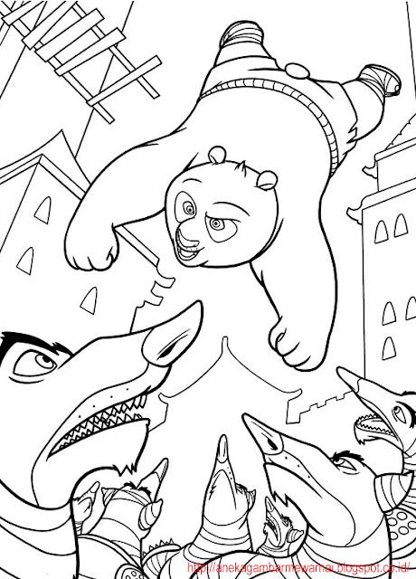 Gambar Mewarnai Kung Fu Panda 1