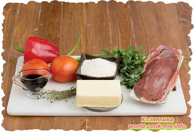 Ингредиенты для Тушенная утиная грудка в овощном маринаде в мультиварке