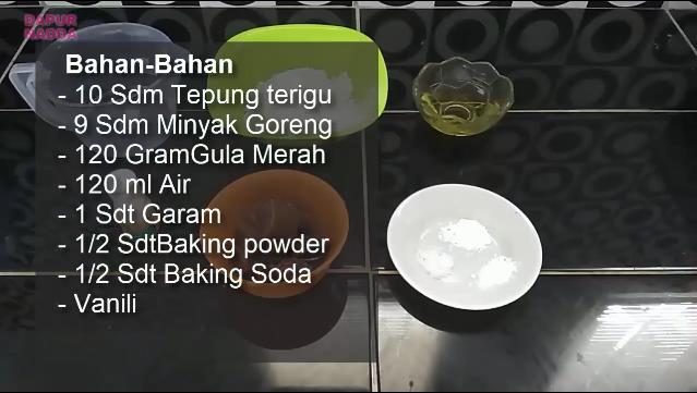 Bahan Membuat Bolu Kukus Gula Merah Mekar Tanpa Telur dan Mixer