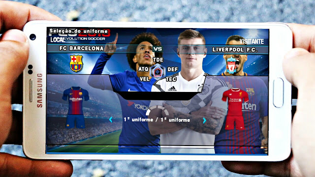 PES 2018 UPDATED REAL FACES PPSSPP/PC/PSP/ANDROID
