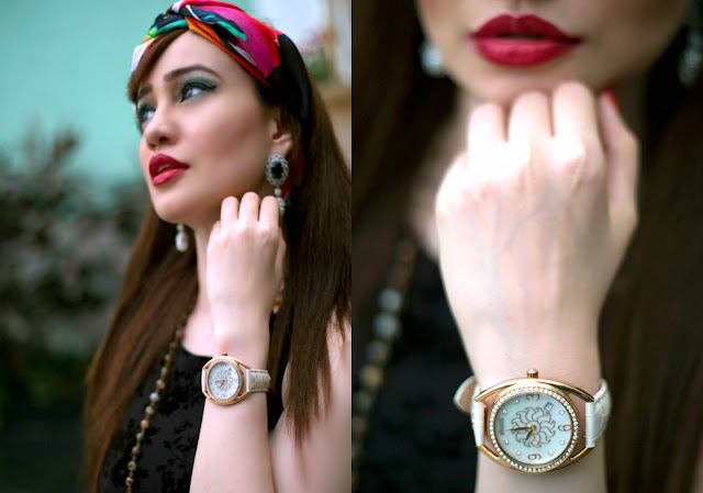 Shazé Accessories, Jewelry,White & Rose Gold Watch