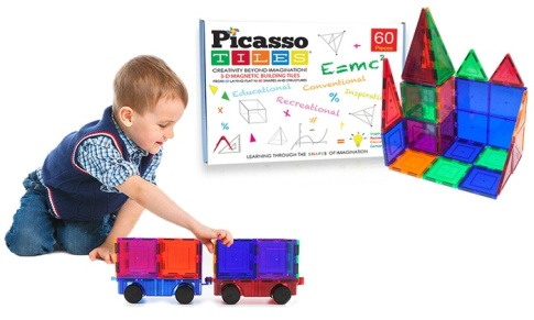 Picasso Tiles 3D Magnetic Building Block Sets-Price:$4.99 (75% OFF)