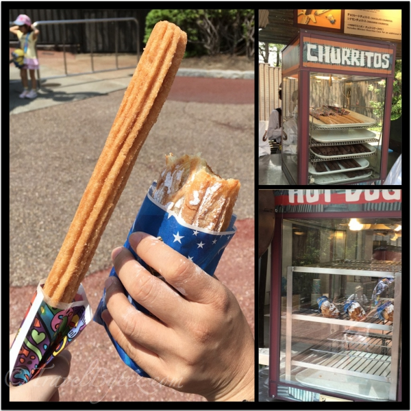 Churros and pies for around 300¥ to 450¥