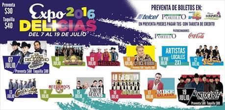 programa expo delicias 2016