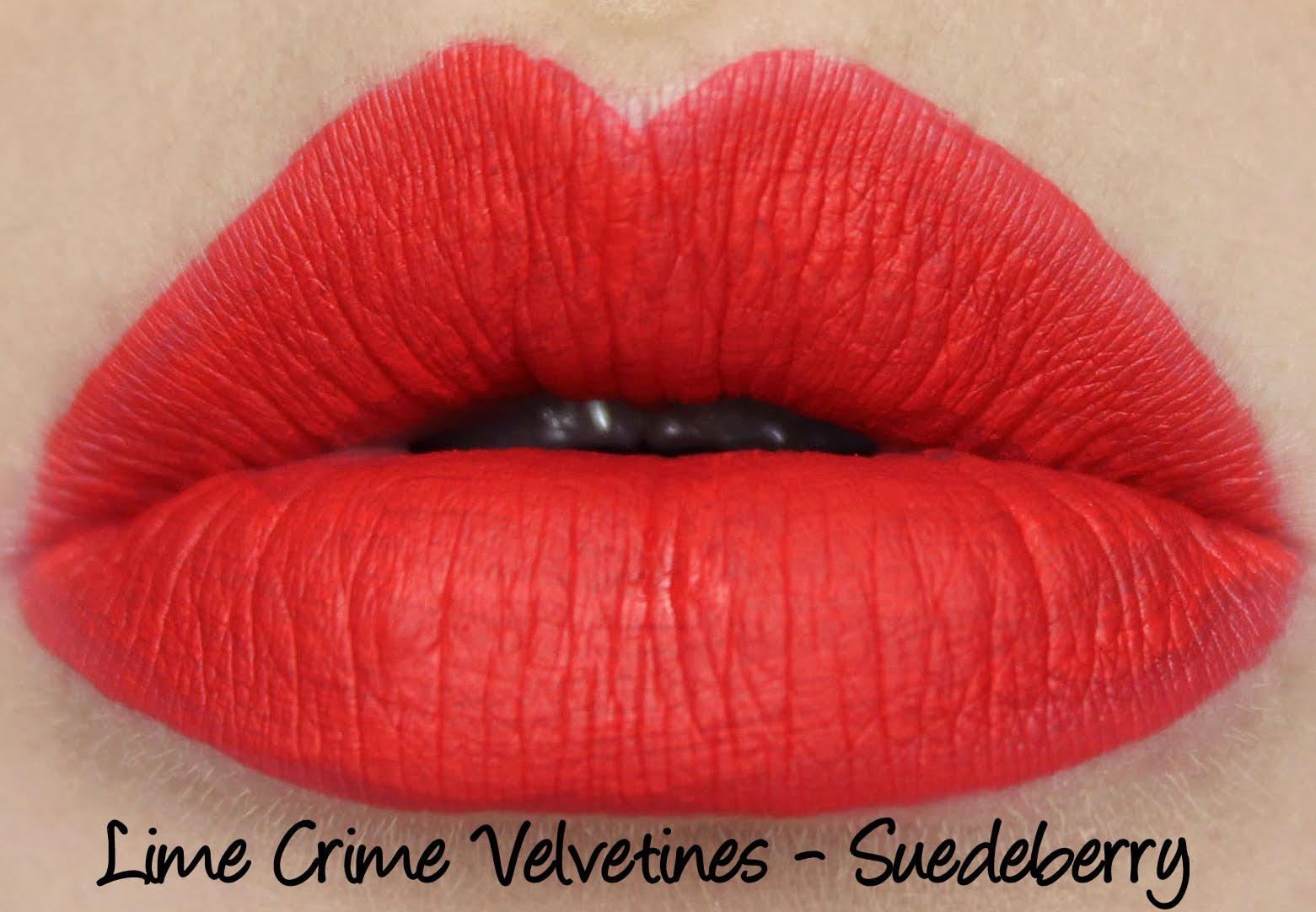 Lime Crime Velvetines Suedeberry lipstick swatch
